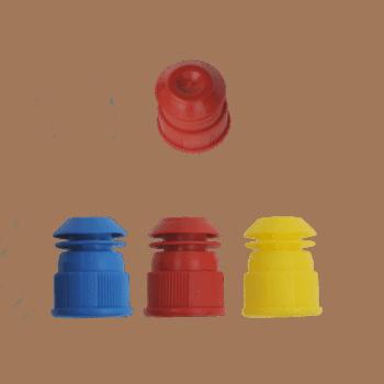 gekleurde reageerbuis dopjes 13 mm